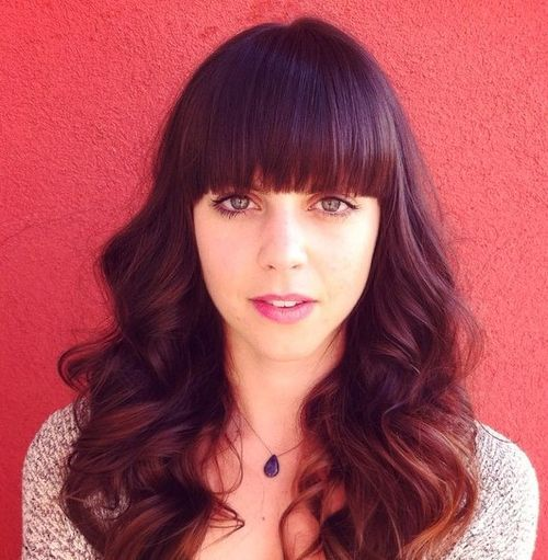 40 Cute Styles Featuring Curly Hair With Bangs Curly Hair With Bangs Hairstyles With Bangs Curly Hair Styles