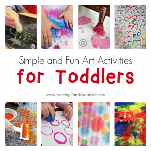 Simple Art for Toddlers #creativeartsfor2-3yearolds