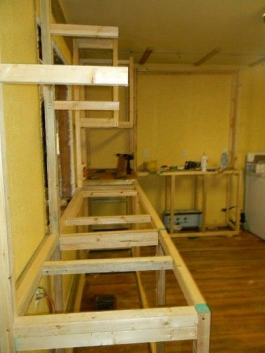 how to build kitchen cabinets from pallets | Building ...