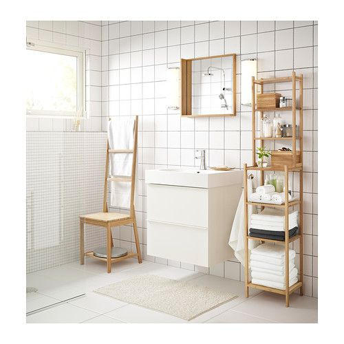 rgrund chair with towel rack bamboo bathroom towel