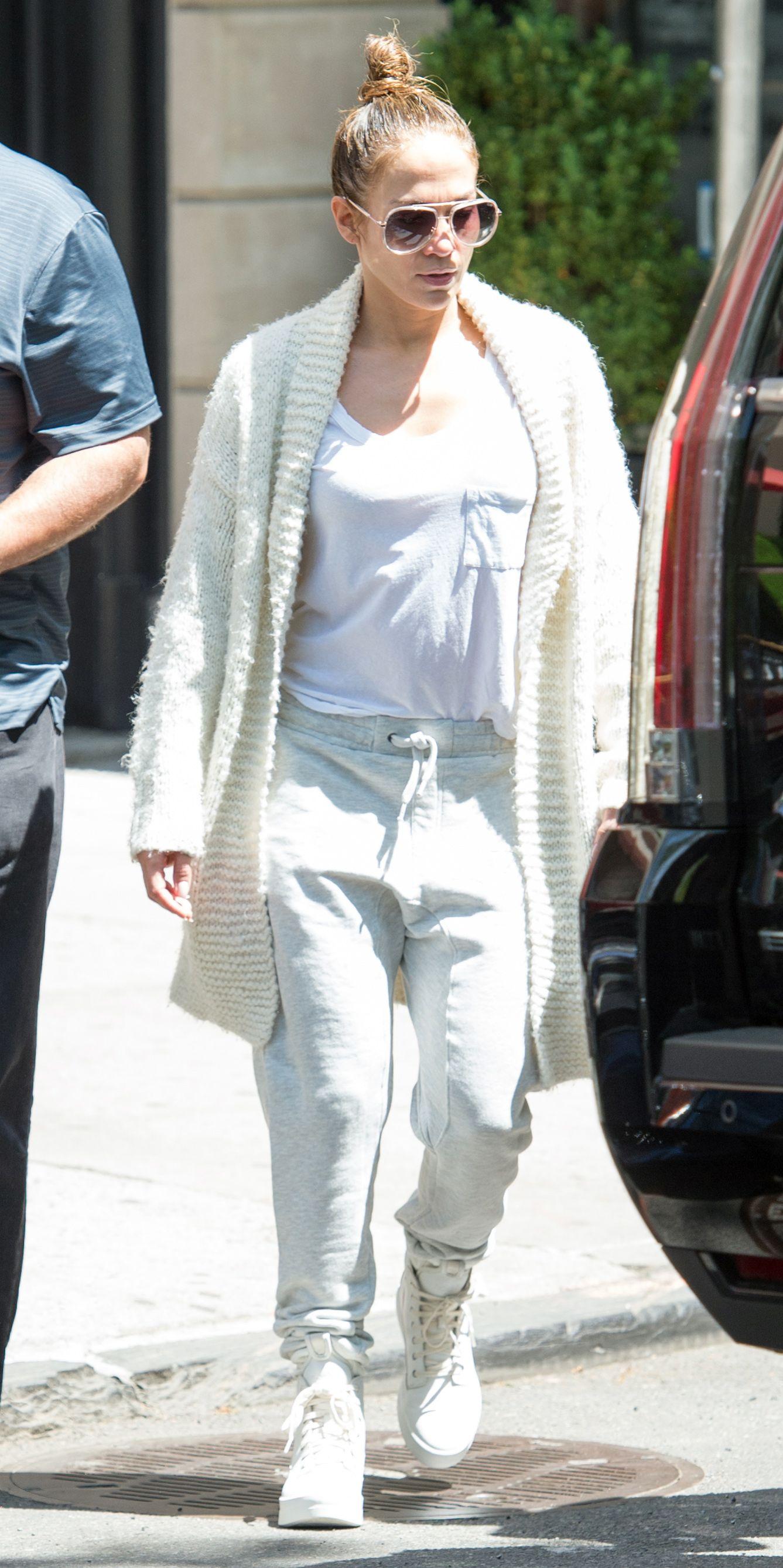 Jennifer Lopez Black Lace Bodysuit Urban Lookbook Classic Timberland Boots