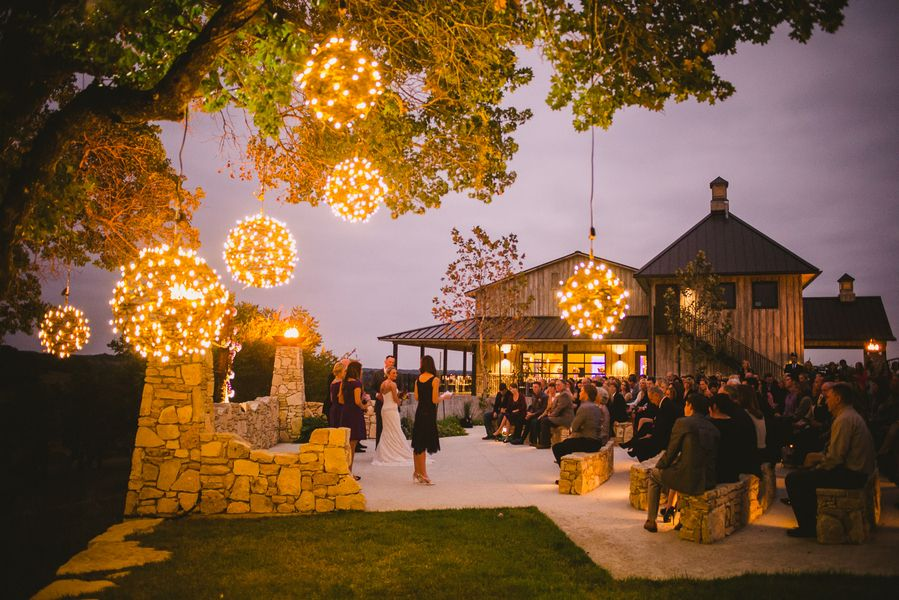 The Reception Was Held Outdoors At Paniolo Ranch In Boerne Texas We Love