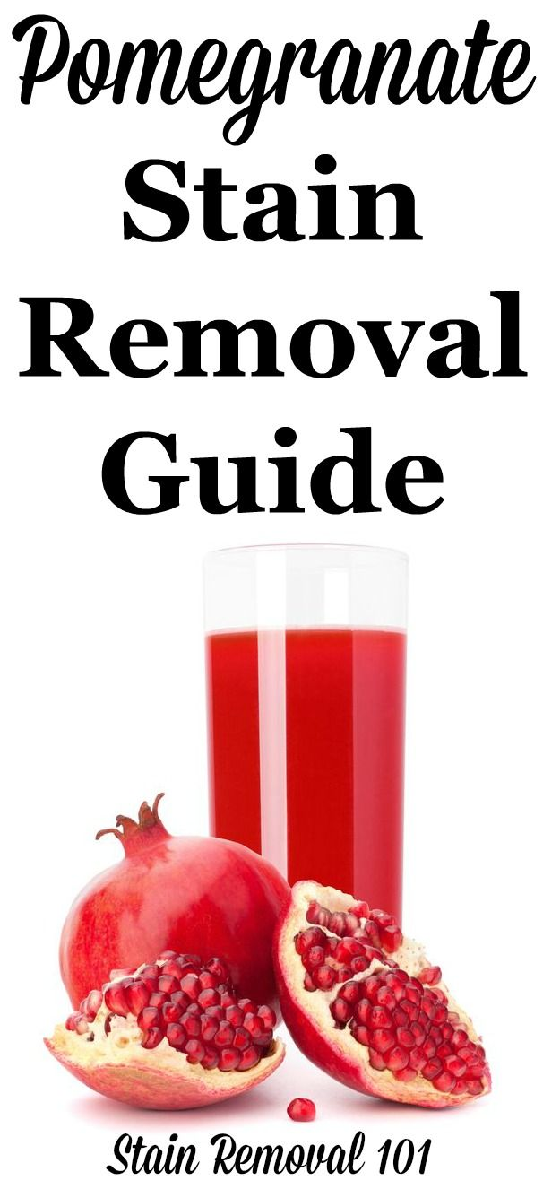 How To Remove Pomegranate Stains Stain Removal Guide Clean Baking Pans Cleaning Hacks