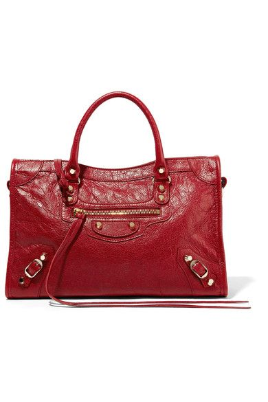 Balenciaga - Classic City Textured-leather Tote - Claret - one size ... ef3b0f02b9