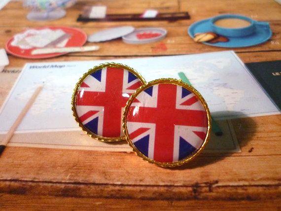 union jack earrings.