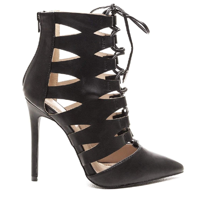 16f425628de8 Shoe Republic LA LLUVIA Women s Cutout Ankle Booties -- Want to know more