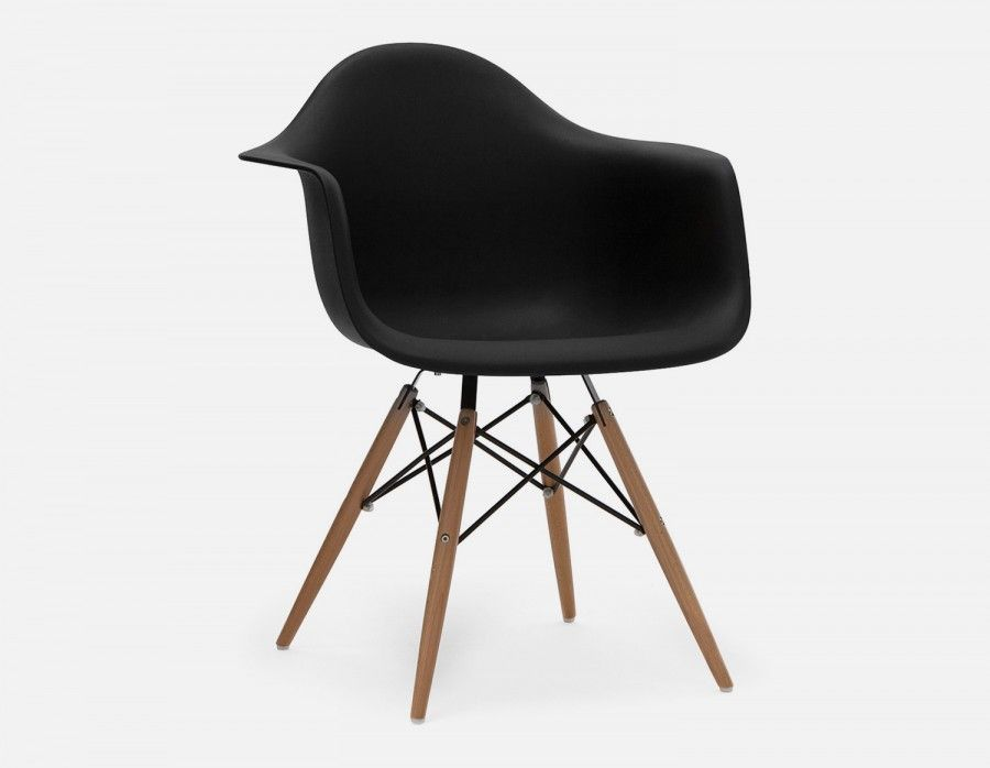 Eiffel Chair Wood Legs Navy Velvet Black Wooden Armchair Dining Pinterest