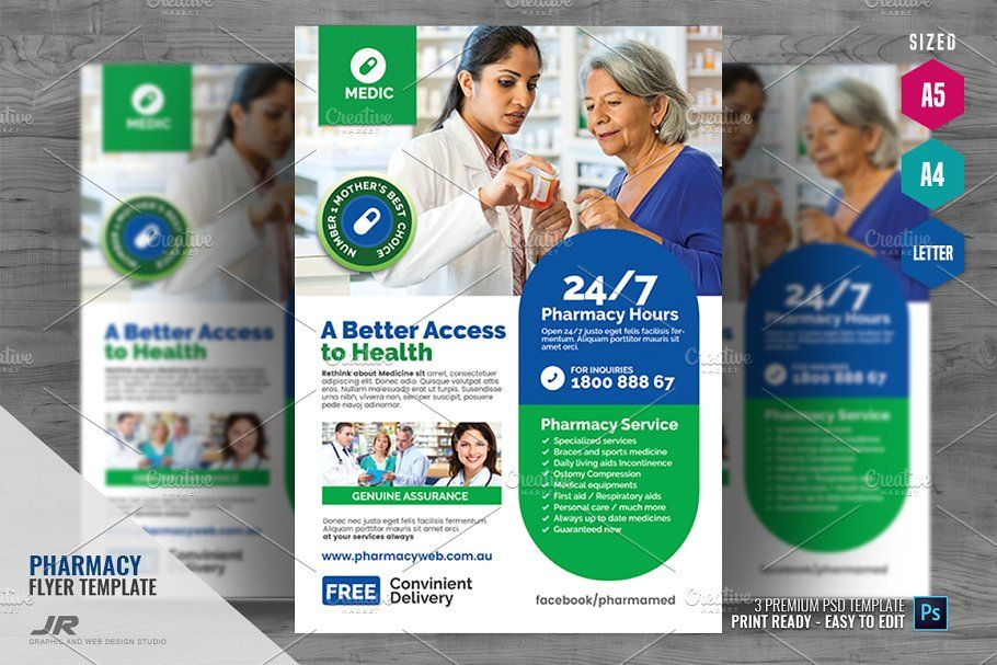 Pharmacy and Health Care Flyer in 2020 Health care