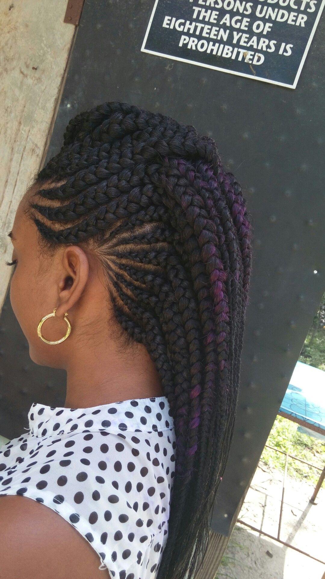 Ghana cornrows mohawk girls hair styles pinterest ghana