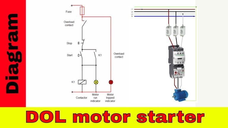 How To Wire A Contactor Direct On Line Motor Starter Diagram In And Overload Wiring For Contactor And Overload Wiring Electrical Circuit Diagram Motor Diagram