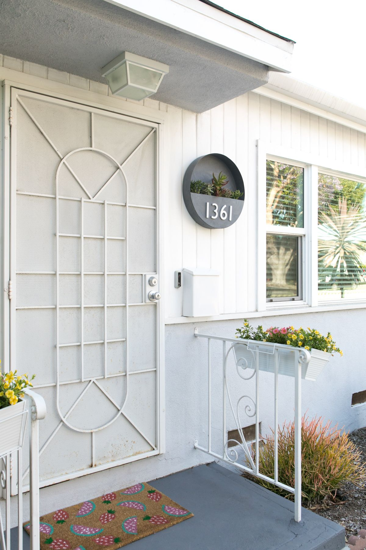 DIY House Number Planter and Rental Friendly Front Porch Decor