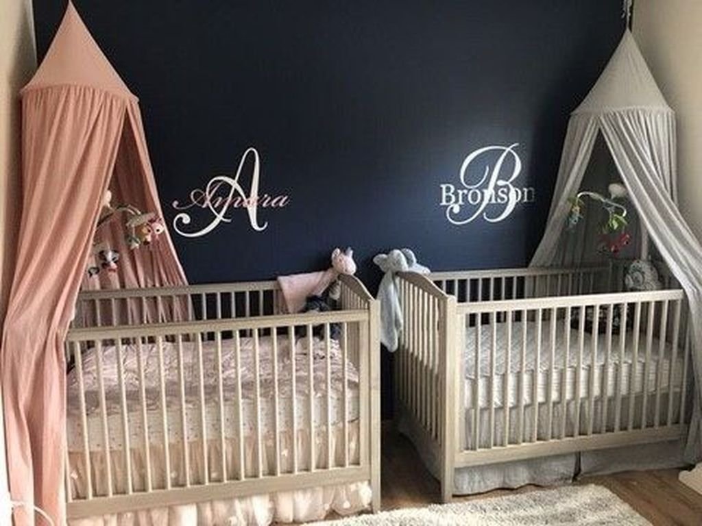46 Unique Nursery Room Ideas For Baby Twins Chambres Pour Bebes