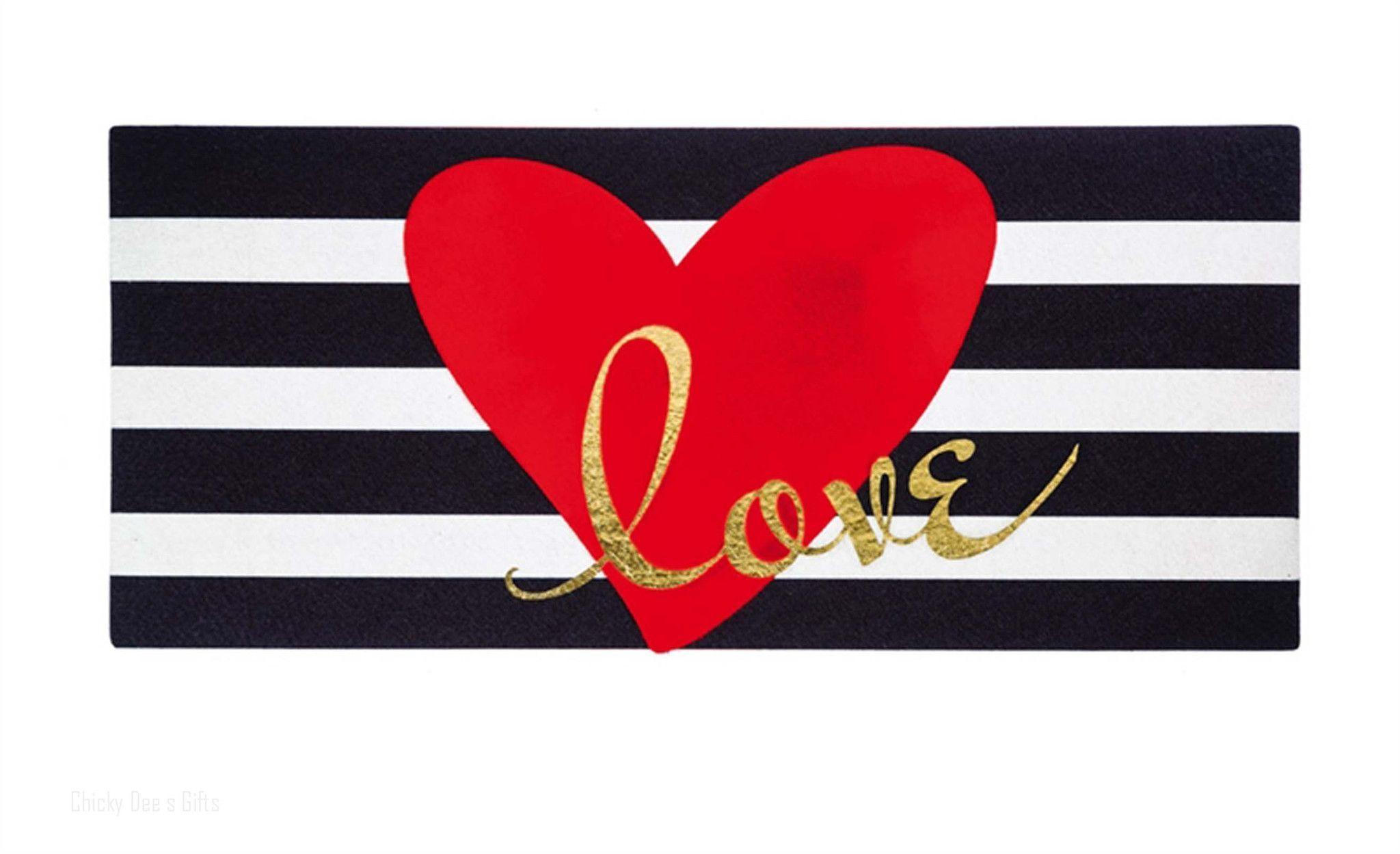 Evergreen Sassafras Red Heart Switch Mat Rug New Valentine S Day Door Mat Mat Rugs Outdoor Floor Mats