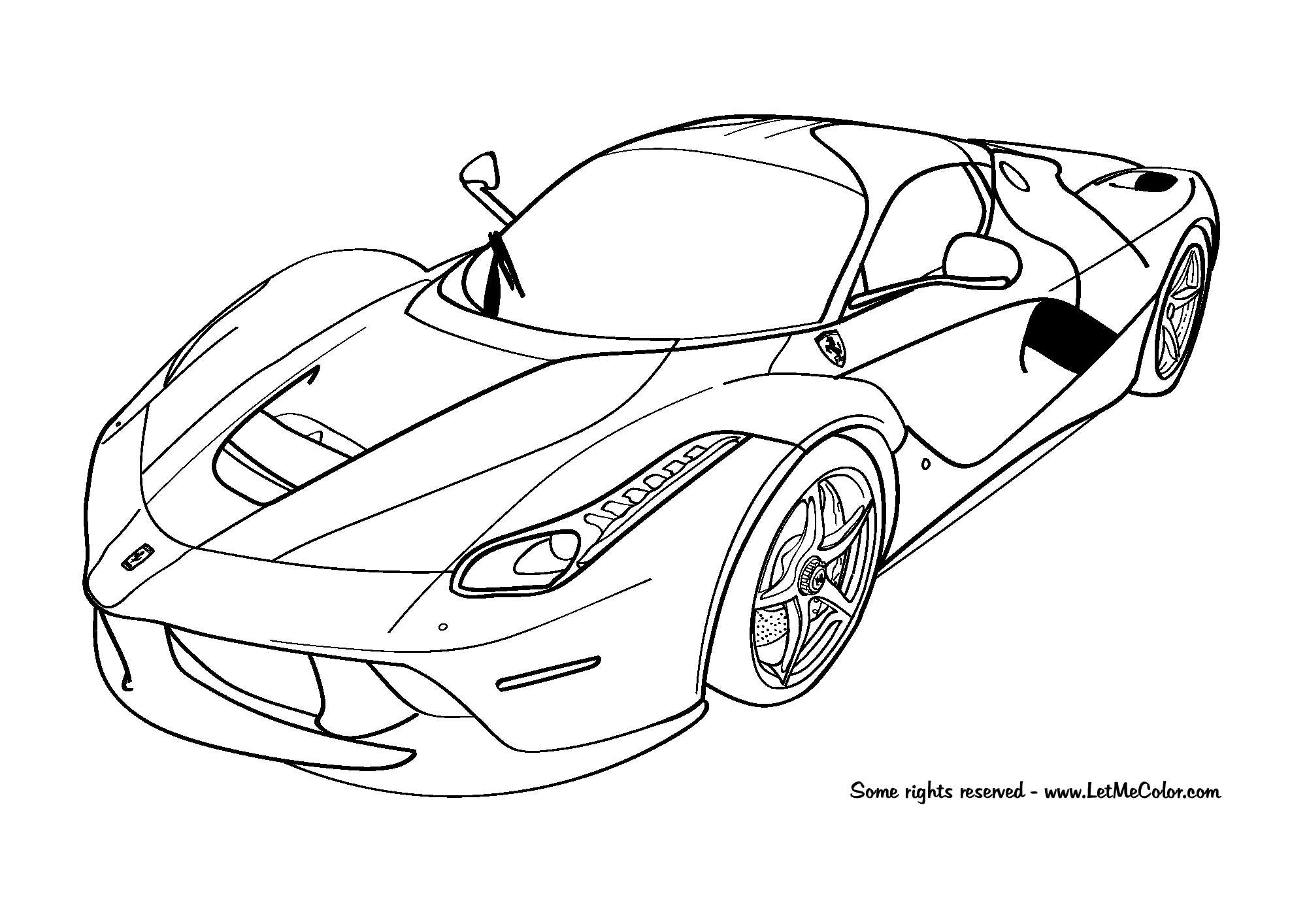 Cars-coloring-page-Ferrari-LaFerrari-F150-LetMeColor.com | Projects ...
