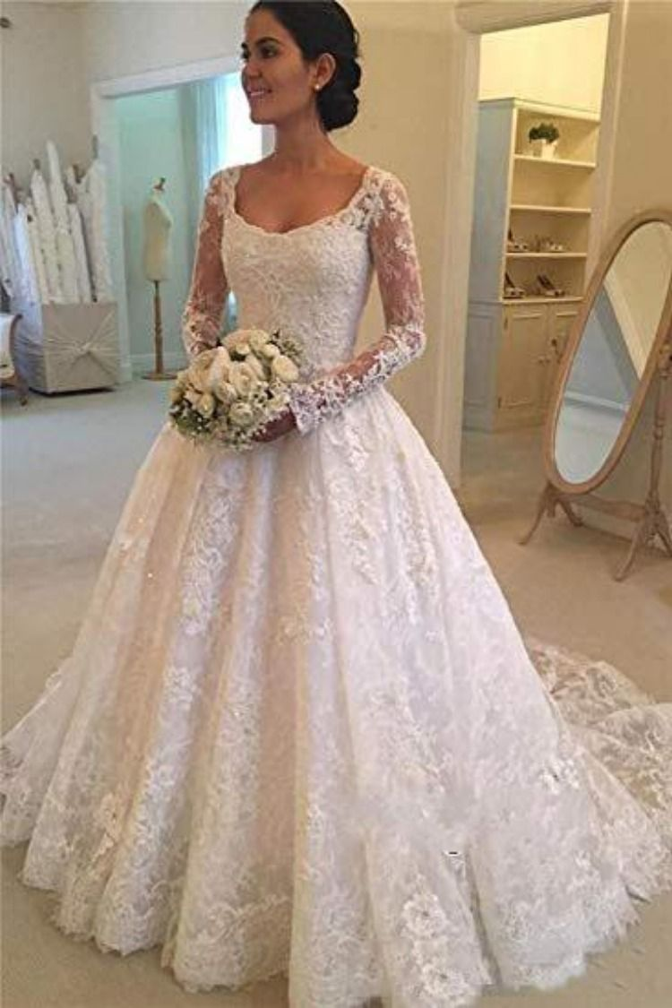 A Line Lace Applique Long Sleeve Sweetheart Covered Button Wedding Dresses Uk Pw331 Wedding Dresses Lace Ballgown Lace Wedding Dress Vintage Boat Neck Wedding Dress
