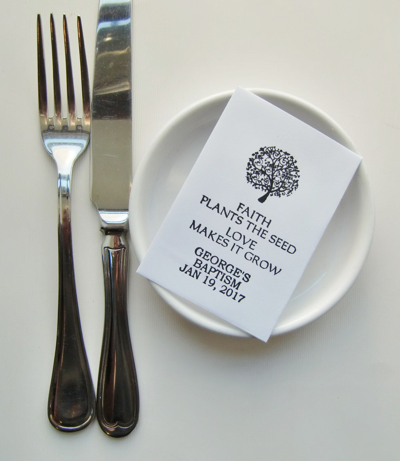 baptism seed packet favors christening favors first munion