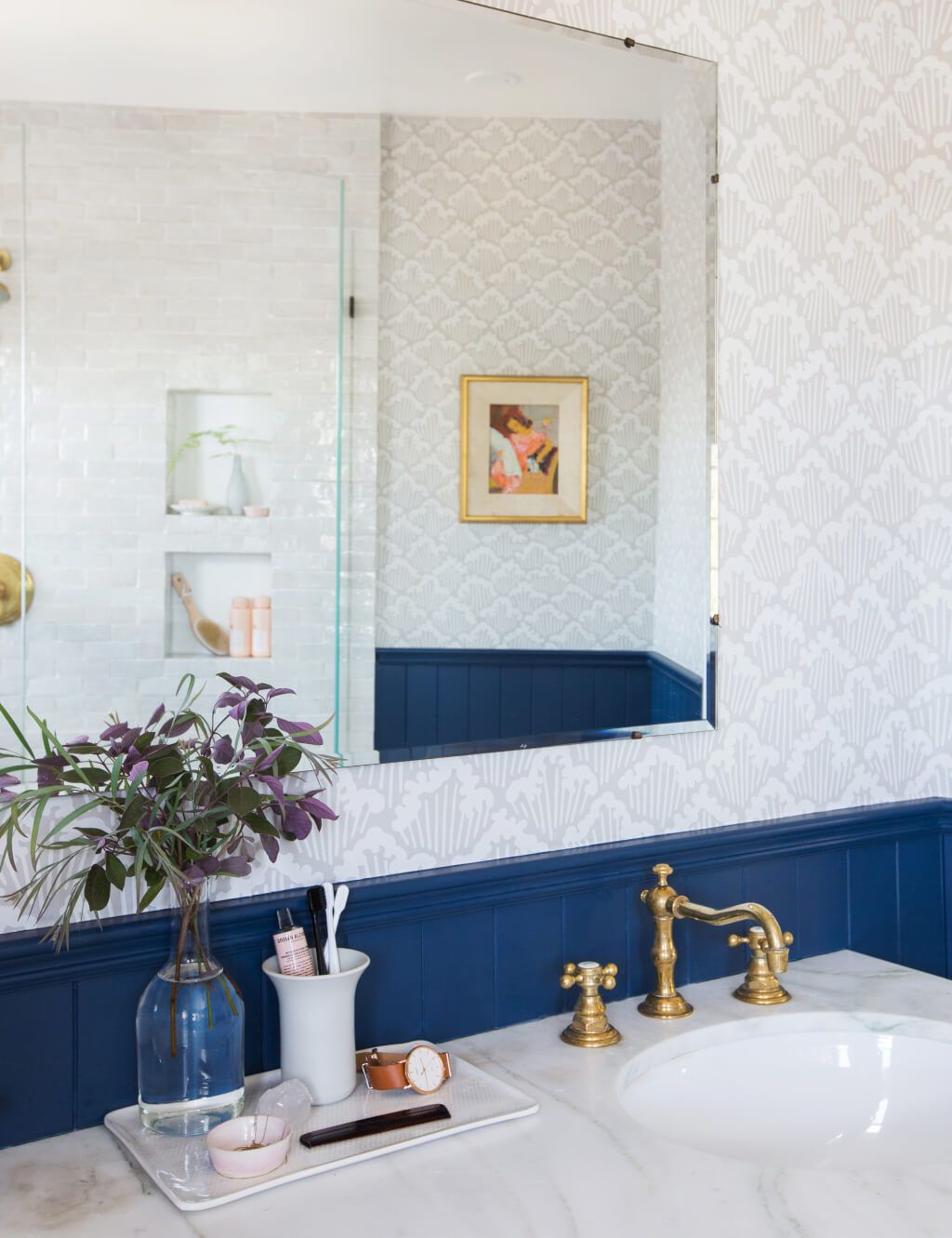 Our Classic Modern Master Bathroom Reveal | English cottages, Master ...