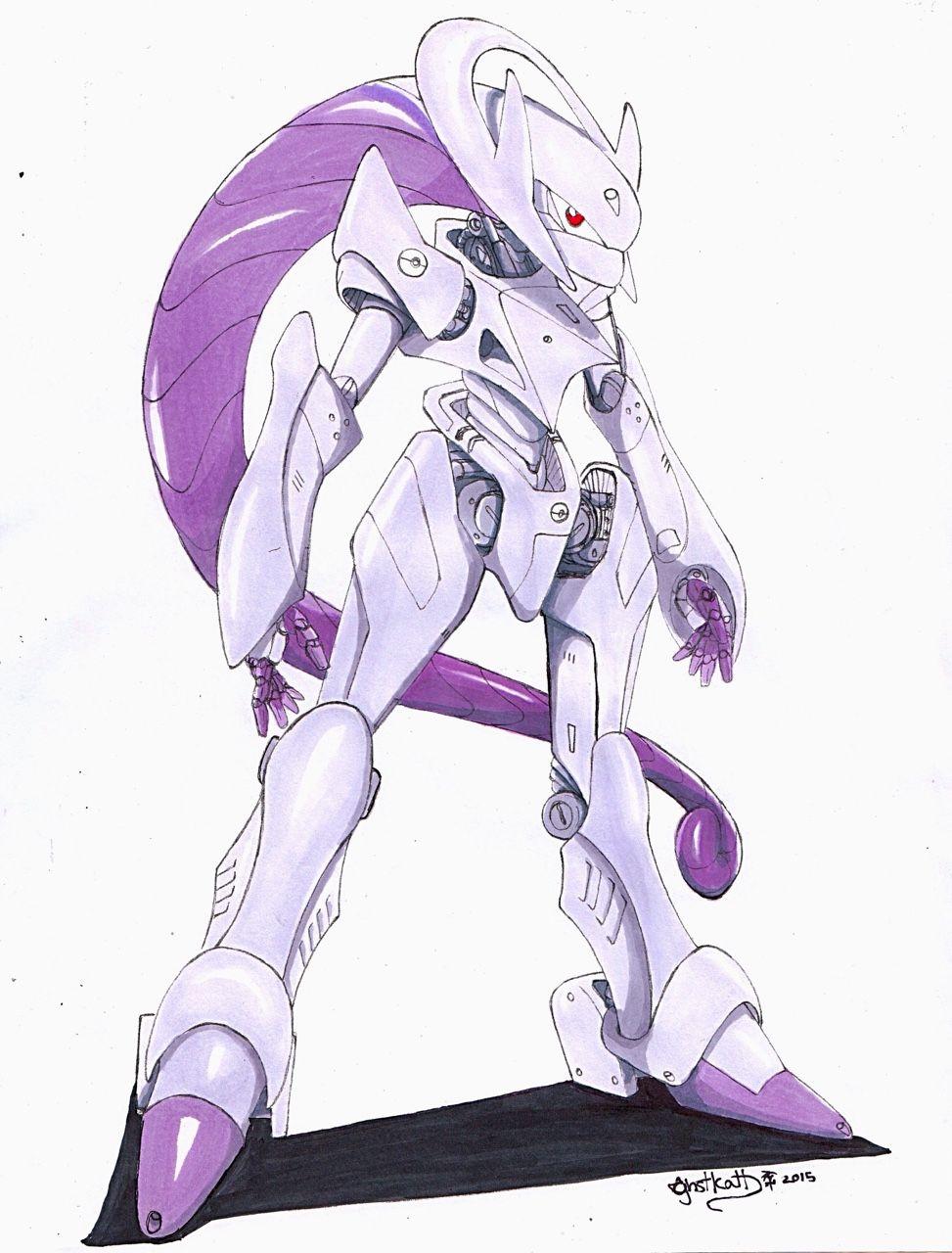 Mecha mega mewtwo y ver finally finish it robots - Mewtwo pagina da colorare ...