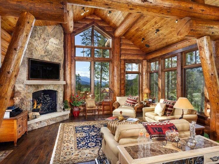 Déco chalet montagne: 100 idées déco inspirantes   Cabin, Log cabins ...