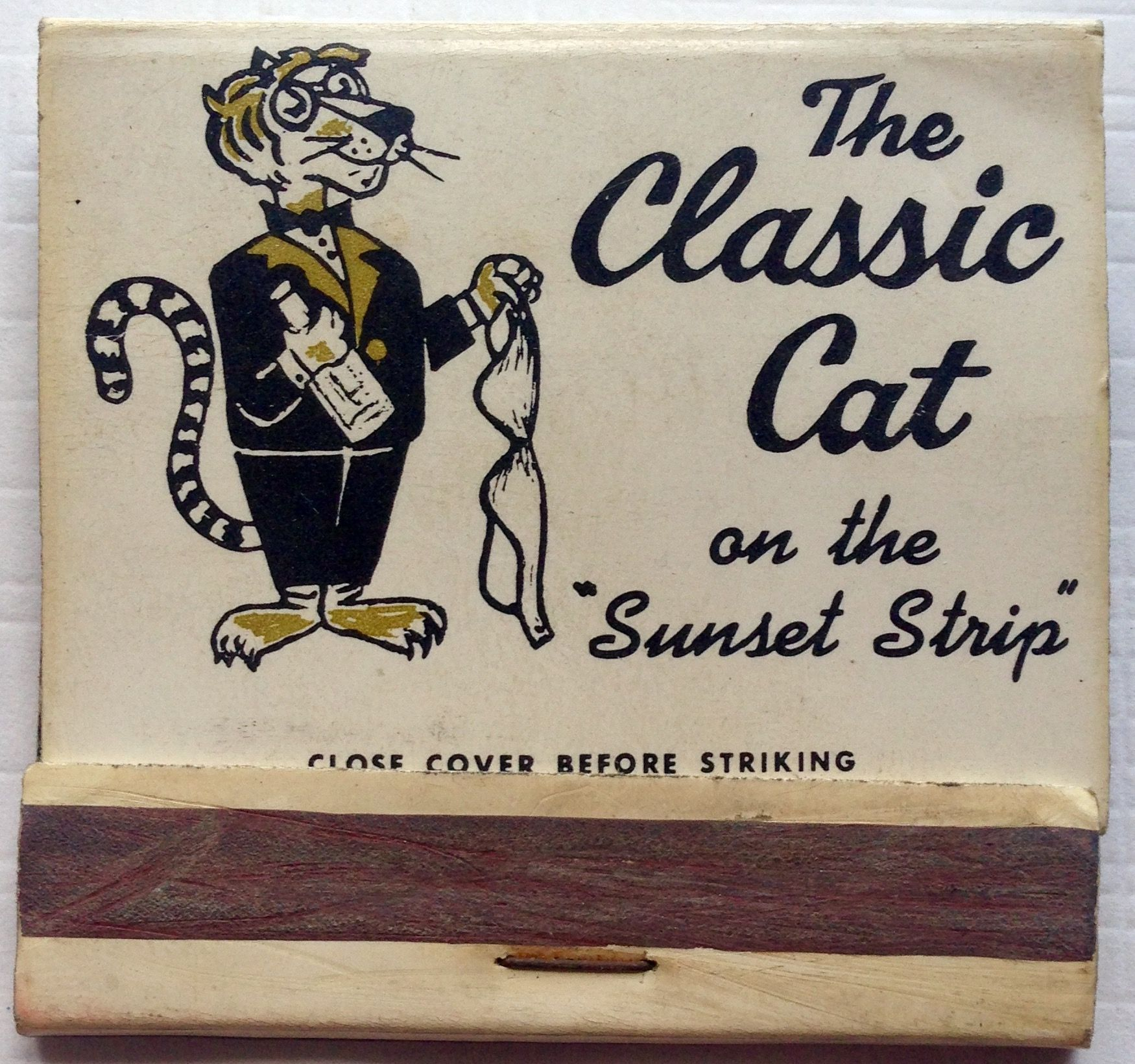 The Classic Cat #sunsetstrip #stripclub #nudie #CA #matchbook - To ...
