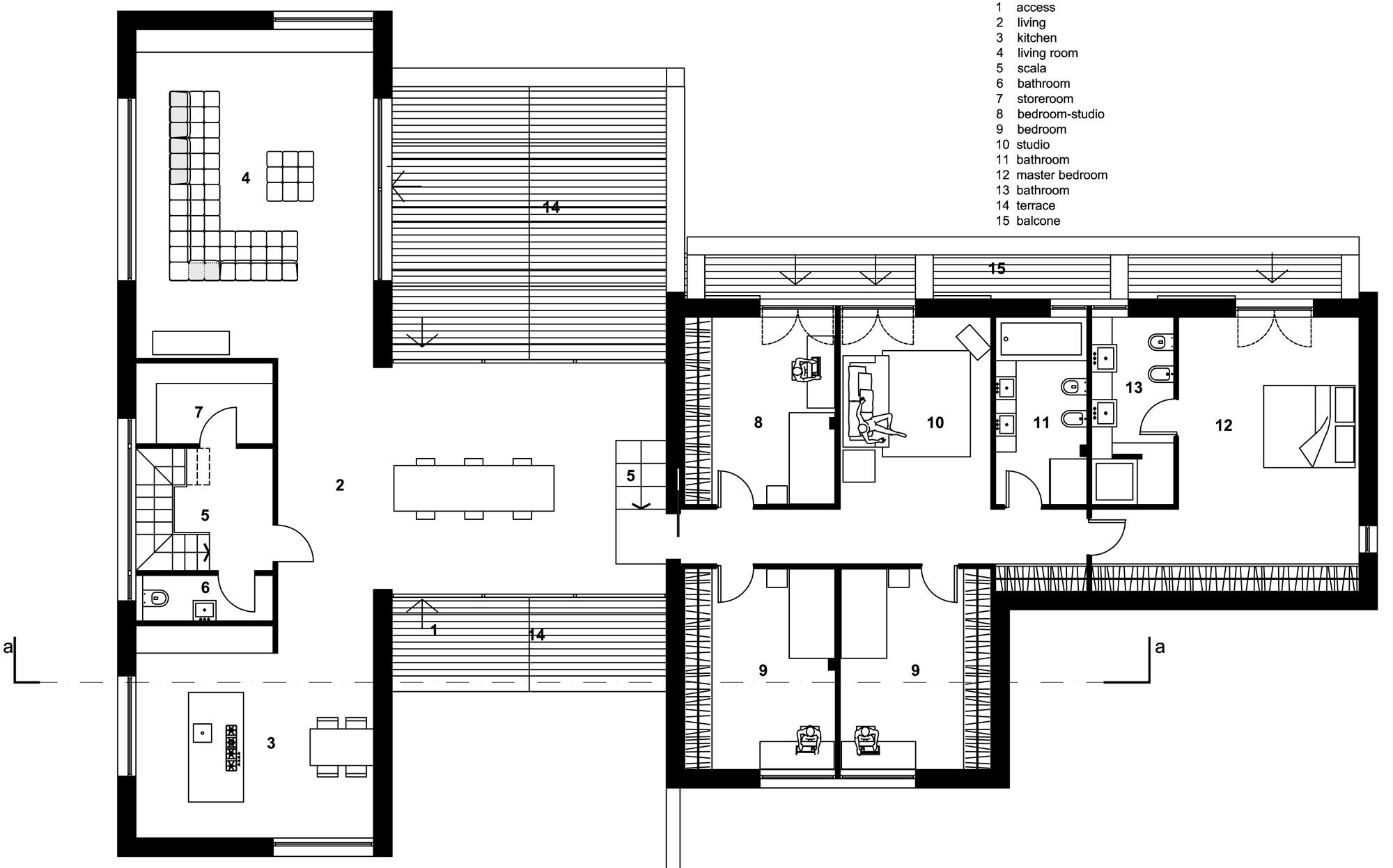 House Mm By Federico Delrosso Architects 42 Floor Plans House Plans Drawing House Plans