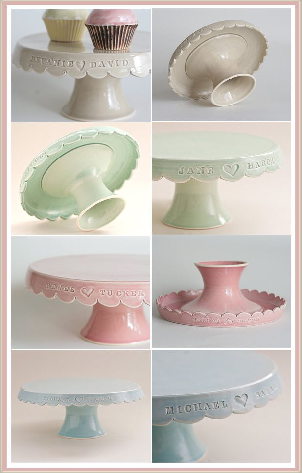 personalized cake stand by jeanette zeis ceramics