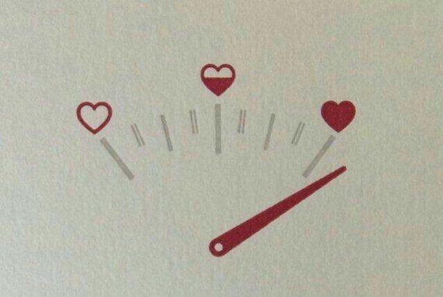 Herz Tachometer zeichnen, Liebe, Valentinstag, Muttertag