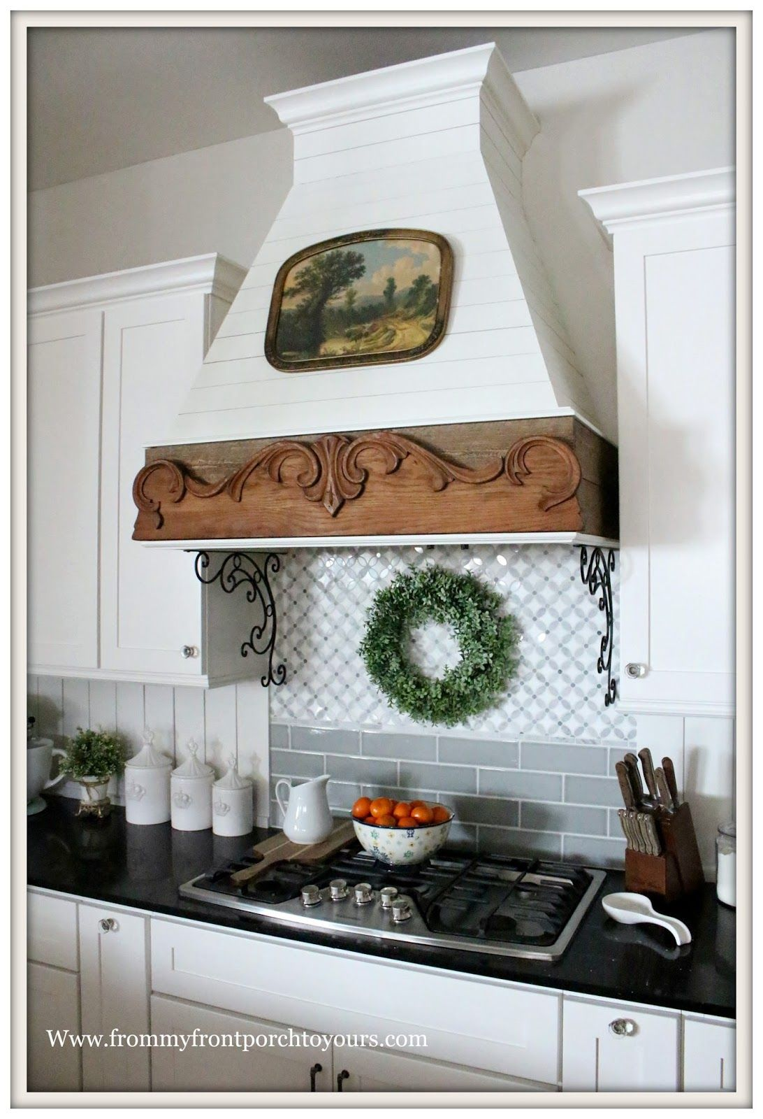 Simple Winter French Country Farmhouse Kitchen