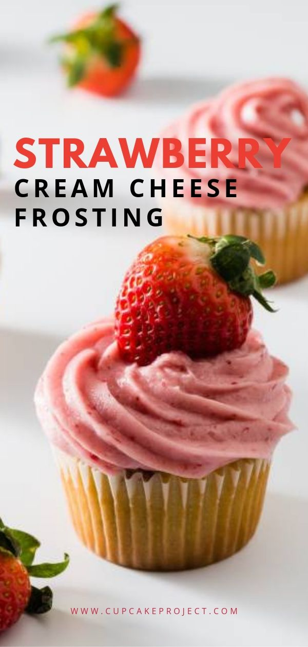 Strawberry Cream Cheese Frosting #creamcheeserecipes
