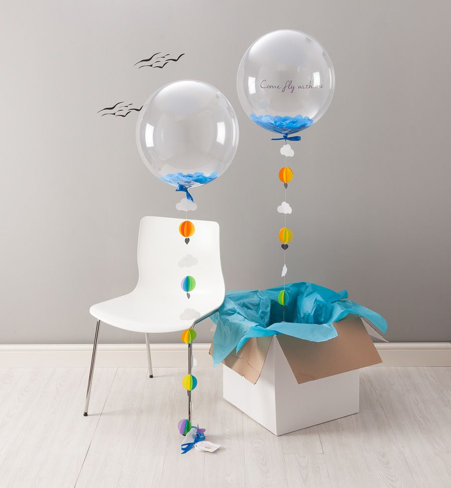 A fun hearted hot air balloon perfect for someone with the helium balloons delivered next day gumiabroncs Choice Image