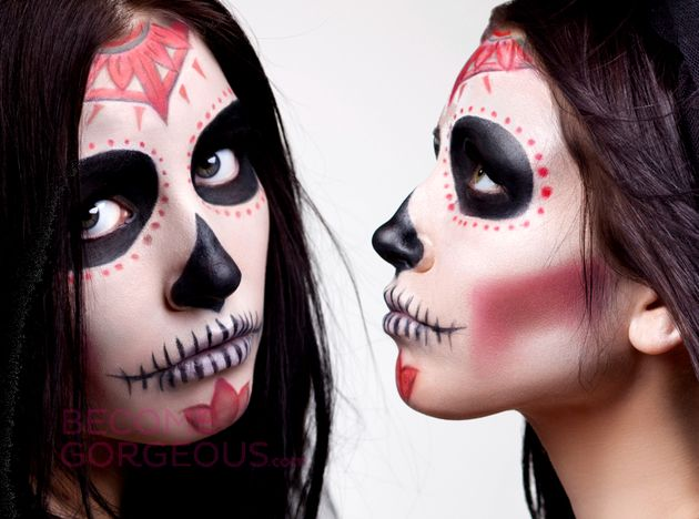 sugar skull makeup for halloween want to pull off the perfect halloween look take sugar skull face paintsugar - Halloween Skull Face Paint Ideas
