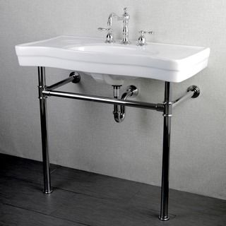 Imperial Vintage Wall Mount Chrome Pedestal Bathroom Sink Vanity    Overstock Shopping   Great Deals On Bathroom Sinks