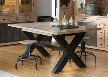 Industrial Metal X Leg Dining Table From Tannahill Furniture Ltd