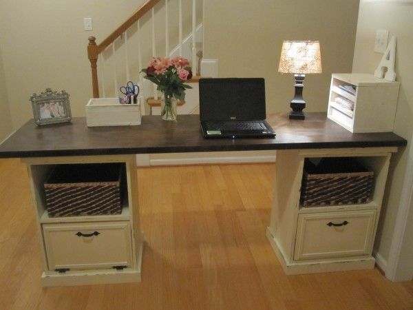 Modular desk do it yourself home projects from ana white new modular desk do it yourself home projects from ana white new office desk solutioingenieria Images