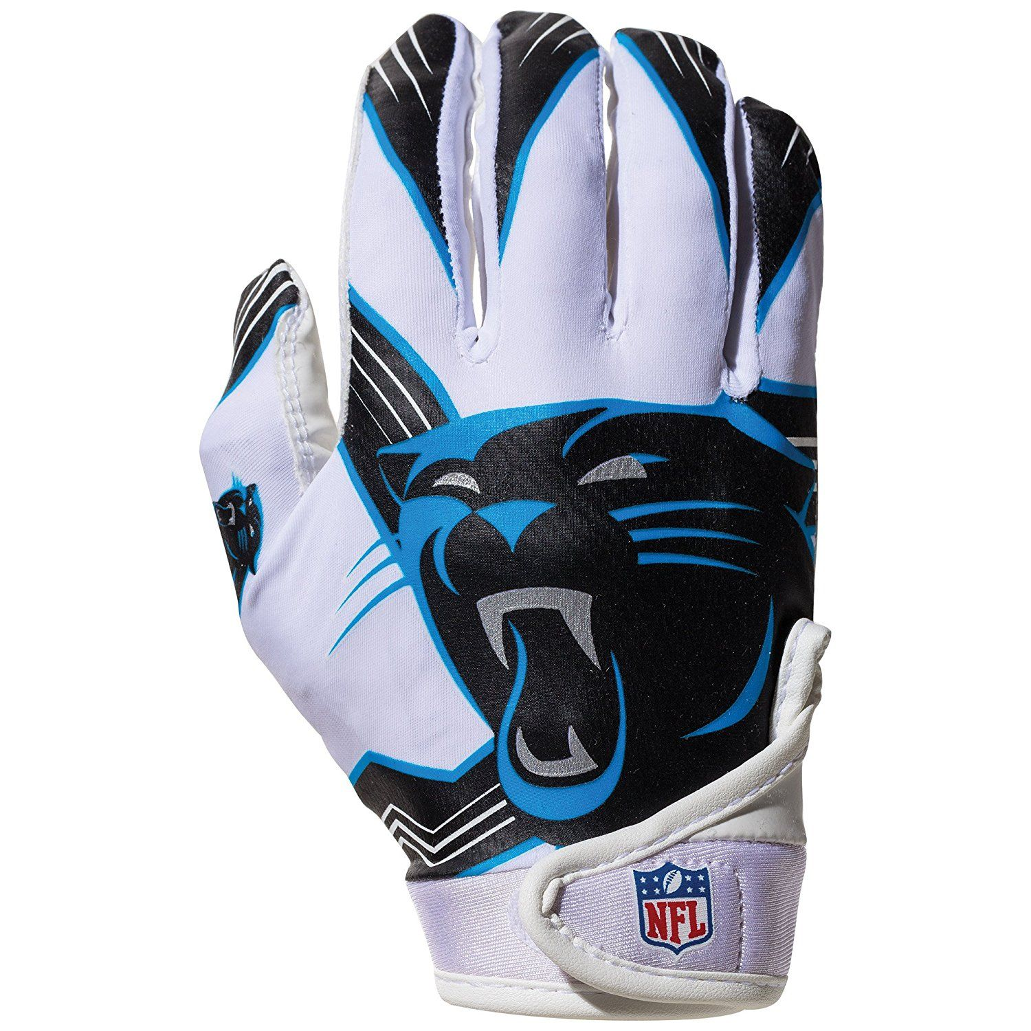 premium selection 57004 8aad9 Amazon.com : NFL Carolina Panthers Youth Receiver Gloves ...