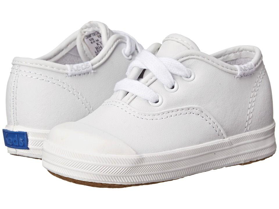 Keds Kids Champion Lace Toe Cap 2 Toddler Girls Shoes White