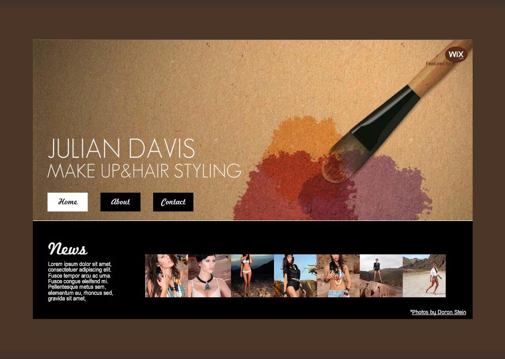 makeup artist website template - Google Search | Project | Pinterest ...