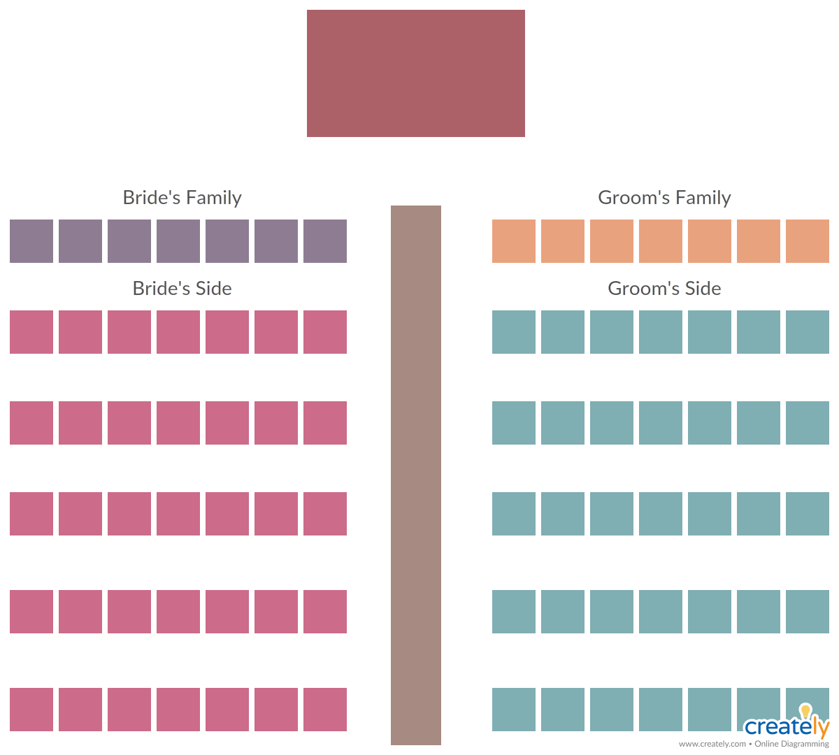 Wedding Ceremony Seating Template Wedding Ceremony Seating Planning Wedding Ceremony Seating Chart Wedding