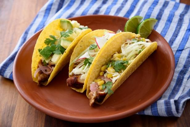 Oven-Roasted Chicken al Pastor Tacos