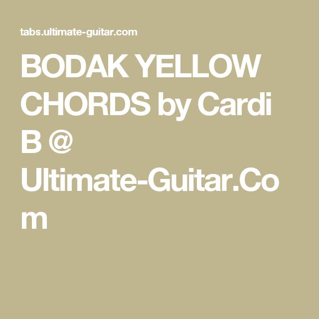 Bodak Yellow Chords By Cardi B Ultimate Guitar Ukelele