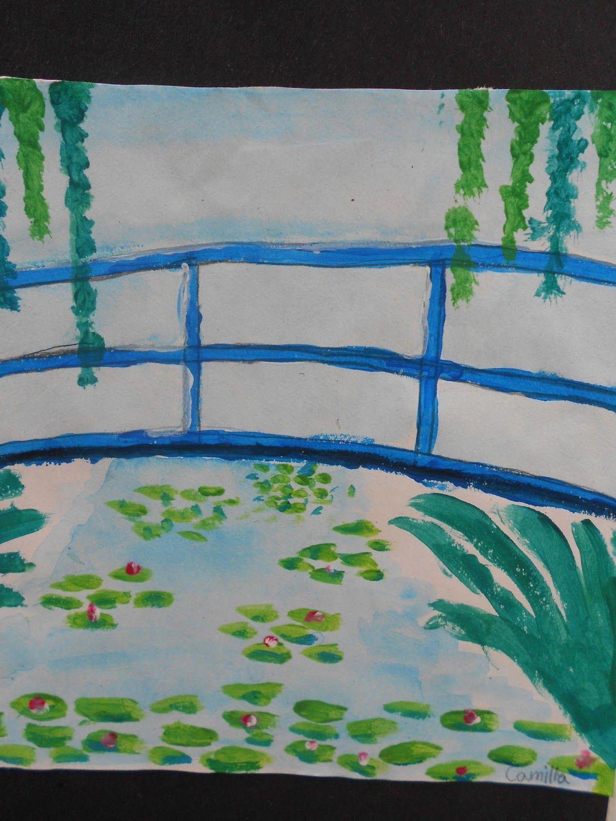 Monet, the japanese bridge. third grade