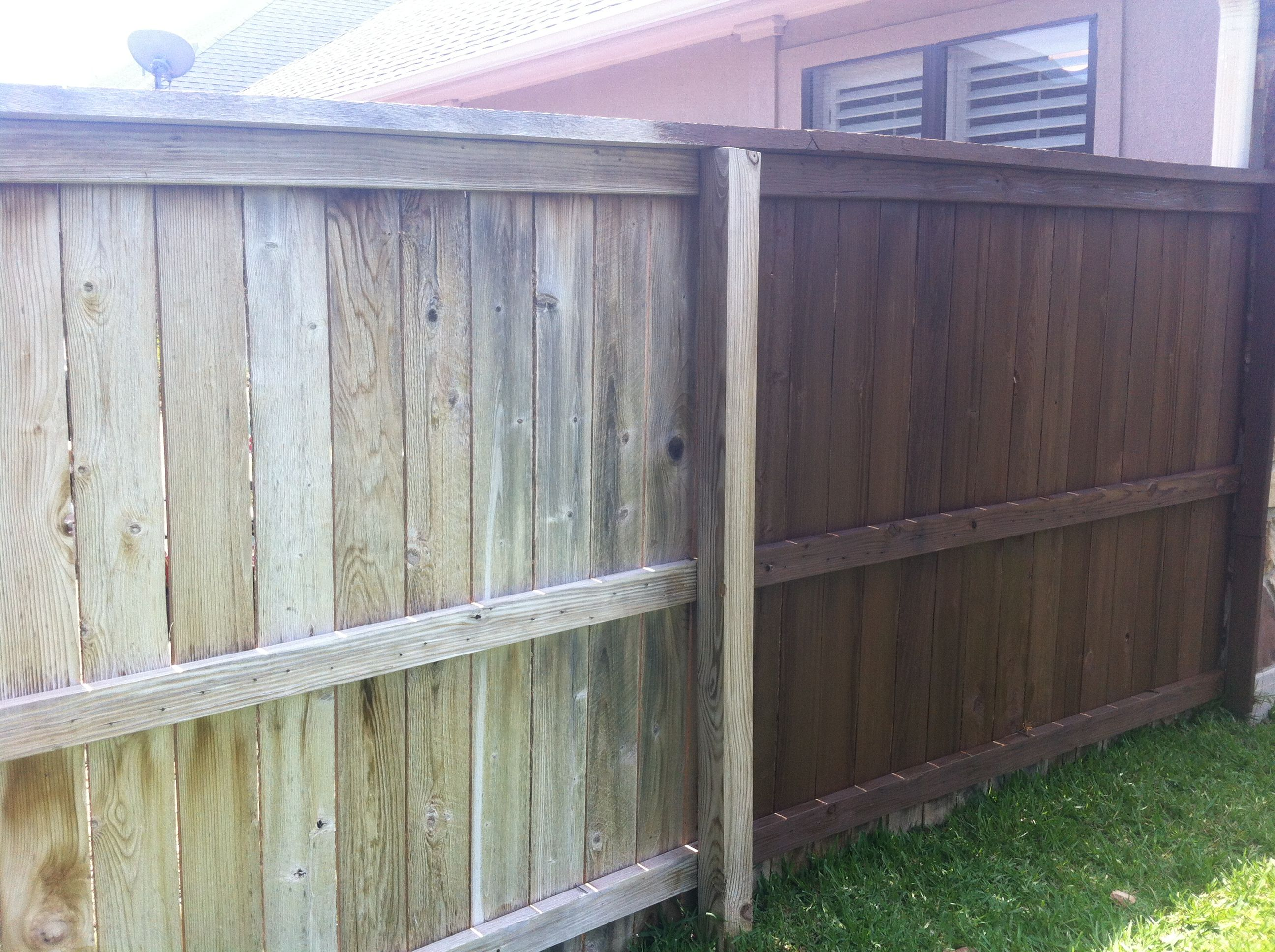 Staining A Wood Fence With Sprayer Label Wood Stain Staining Wood Fence Wooden Fence Panels Metal Fence Panels