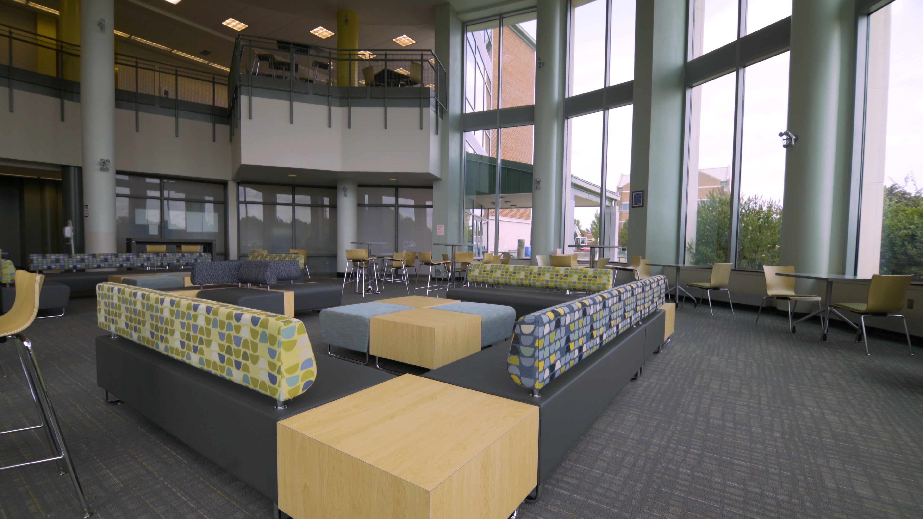 Beautiful Lounge Space At A Local NJ College Featuring KI Furniture Sway Hub And