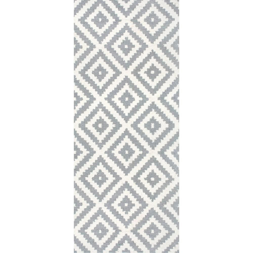 Nuloom Kellee Contemporary Gray 3 Ft X 12 Ft Runner Mtvs174b 26012 Colorful Rugs Hand Tufted Rugs Area Rugs