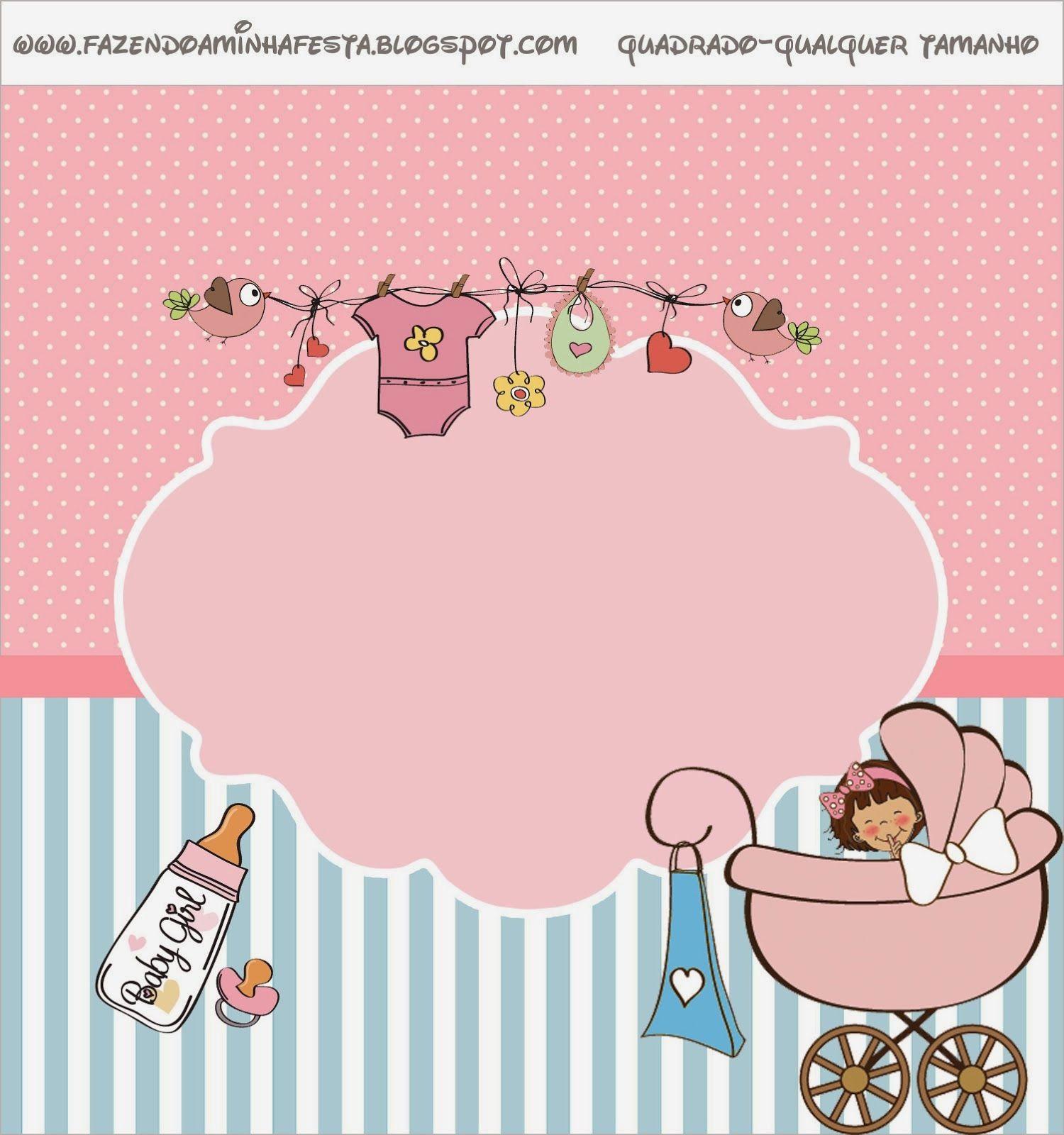 Cochecito Rosa de Beb Etiquetas para Candy Bar para Imprimir