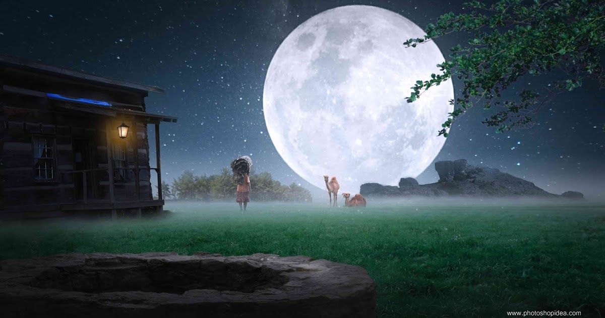 Nature Background Background With Moon Hd Nature Background Night Background Photoshop Ide Nature Backgrounds Light Background Images Photoshop Backgrounds