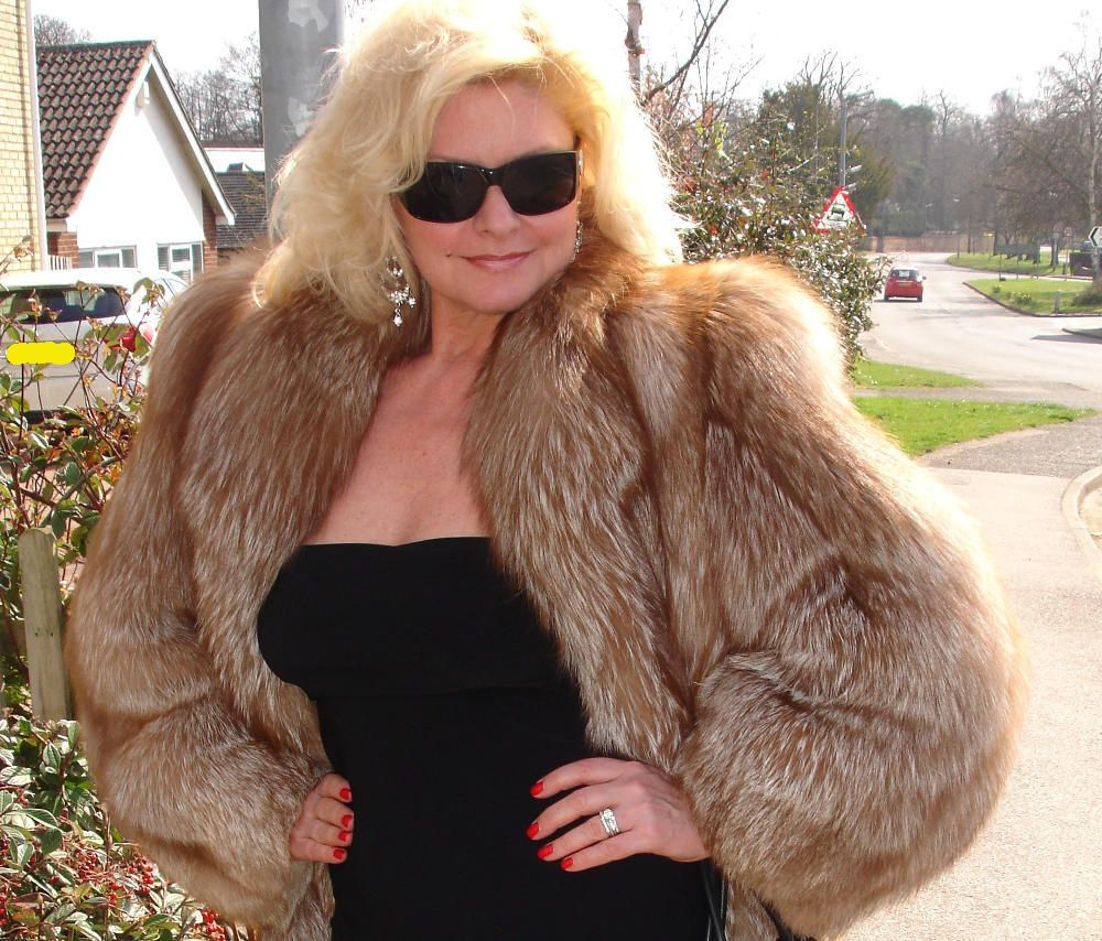 A very beautiful Cinnamon Silver Fox Fur Jacket now on SALE! At