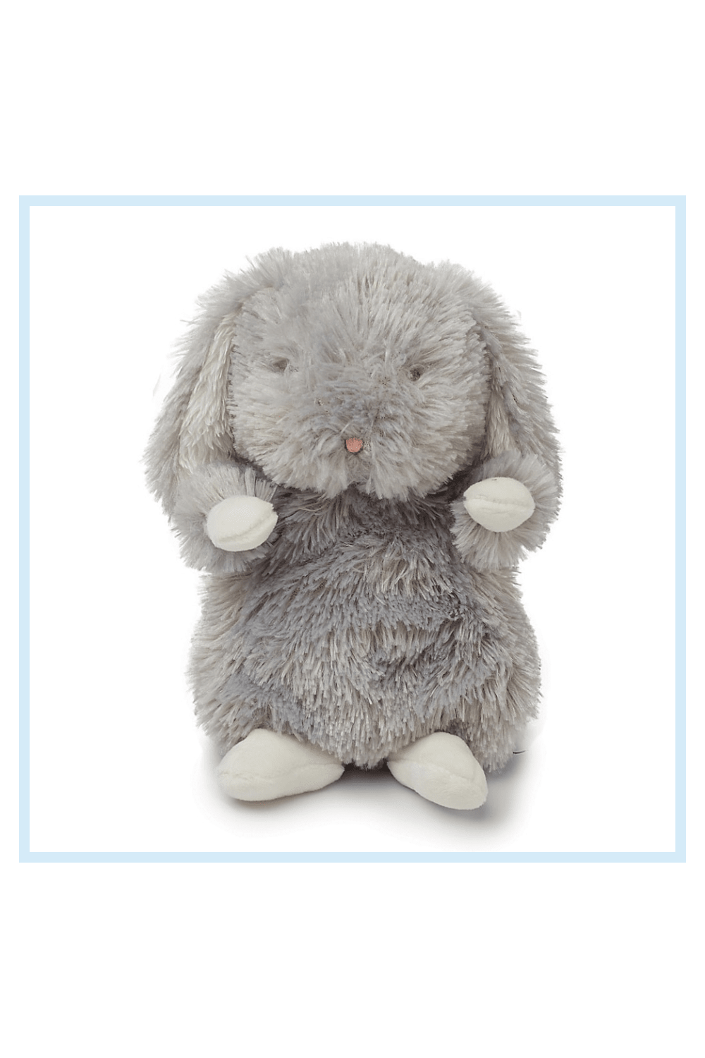 Bunnies By The Bay 7 Wee Bloom Bunny Plush grey