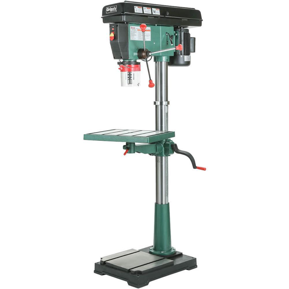 Grizzly Industrial 20 In 12 Speed Floor Drill Press G7948 The Home Depot In 2020 Drill Press Grizzly Drill Press Drill