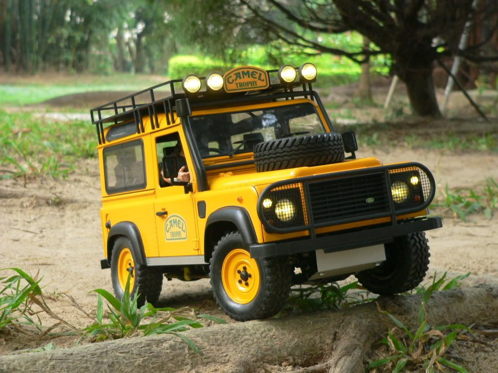 land rover defender body on tamiya cc01 cc 01 chassis. Black Bedroom Furniture Sets. Home Design Ideas